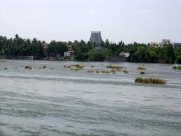 Cauvery river in Srirangam