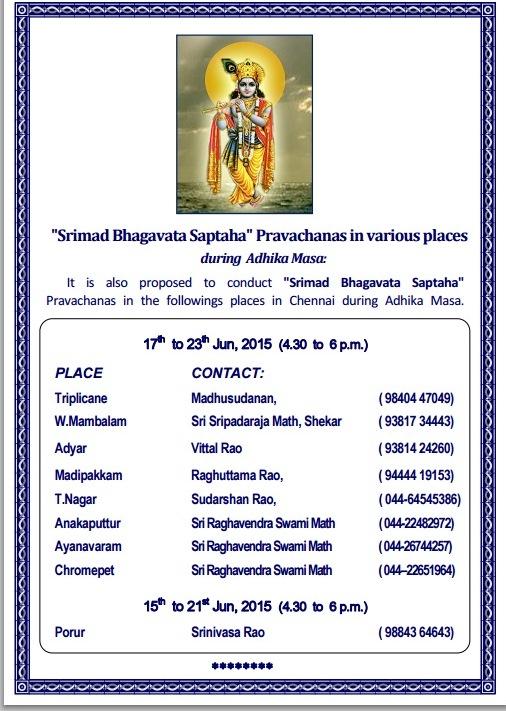 Bhagavata Saptaha in Chennai