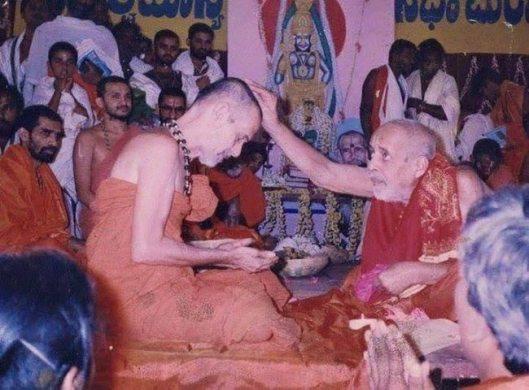 Pejavar Swamiji with Sri Vidyamanya Theertharu
